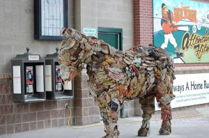 Cool horse at Frontier Field