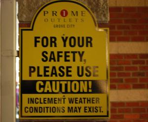bad weather sign